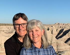 photo of Pete and Nancy at the Badlands in South Dakota